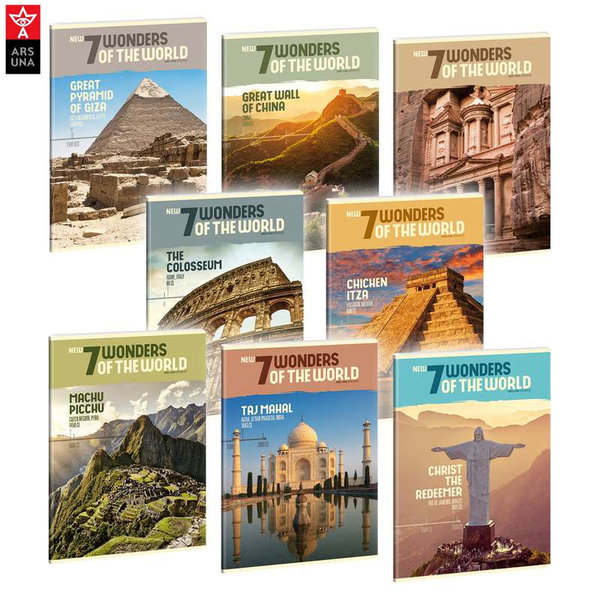 Ars Una - New 7 Wonders of the World Тетрадка А5 40 листа 93138642