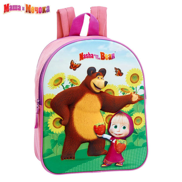 Masha and the Bear - Раница за детска градина 3D Маша и Мечока 200758