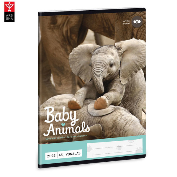 Ars Una - Animals Тетрадка А5 32 листа Слон 93628211
