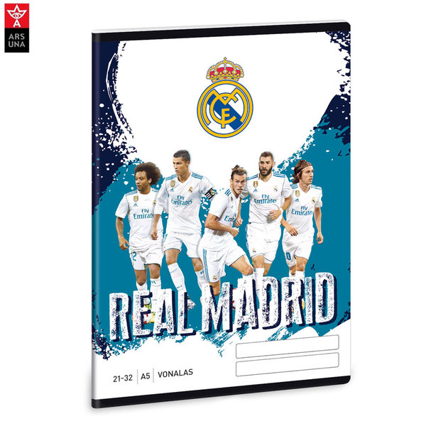 Real Madrid - Тетрадка А5 32 листа Реал Мадрид Ars Una 93628549
