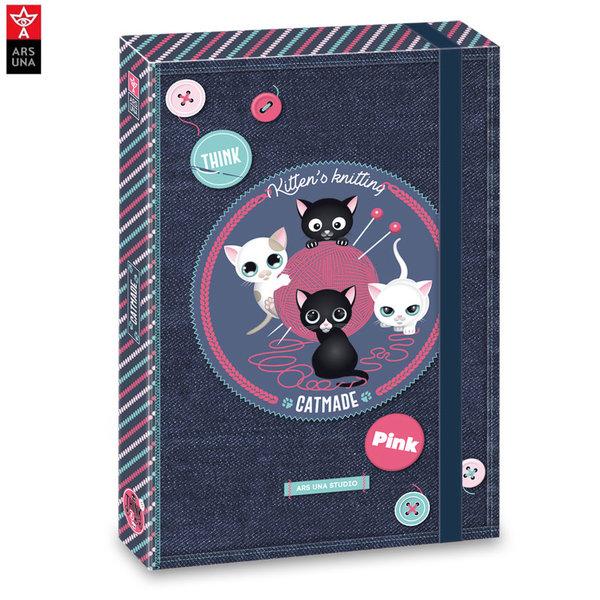 Ars Una - Think Pink Папка кутия с ластик АрсУна 90858406