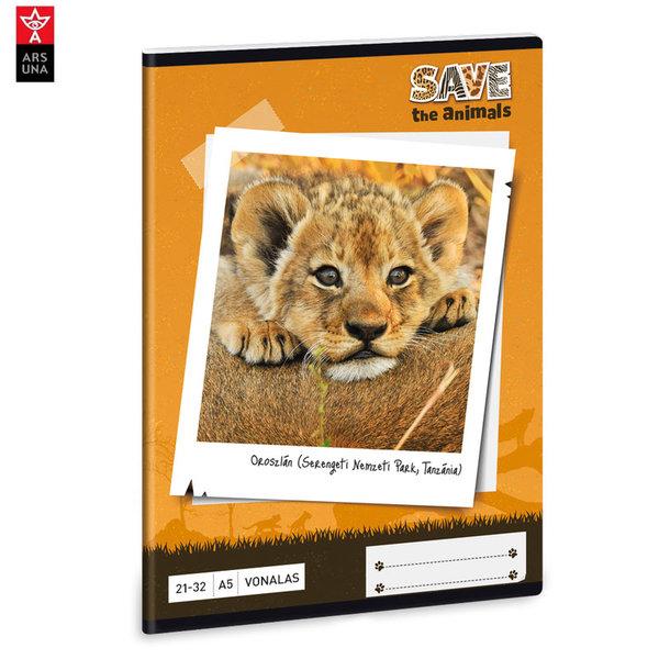 Ars Una - Animals Тетрадка А5 32 листа Лъв 93628273