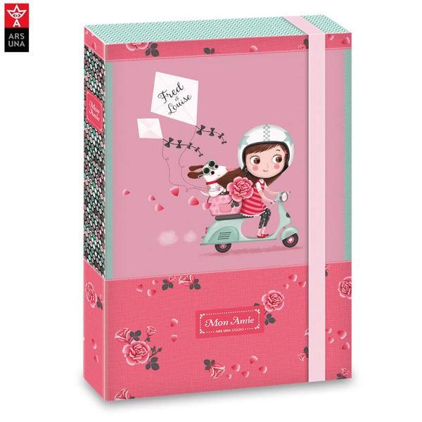 Ars Una - Mon Amie Папка кутия с ластик А4 АрсУна 90858369
