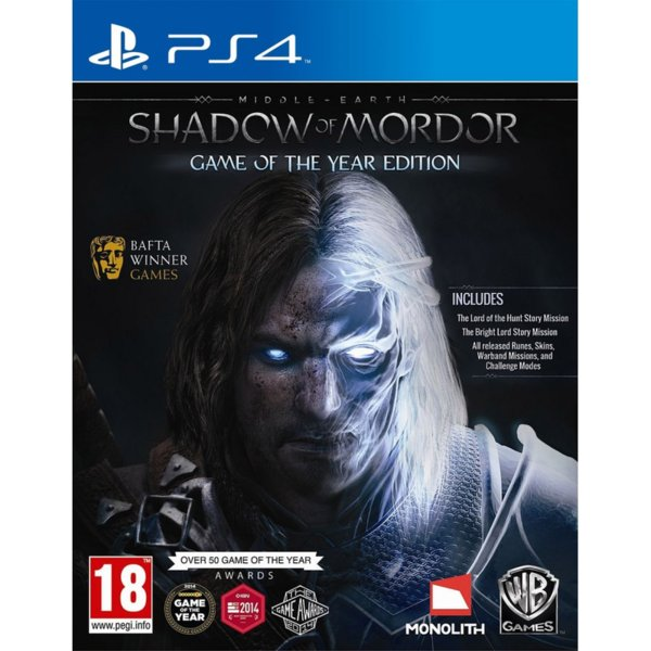 Игра за PS4 - Middle-Earth: Shadow of Mordor GOTY Edition