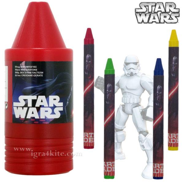 Star Wars - Кутия с цветни пастели Междузвездни войни 65872