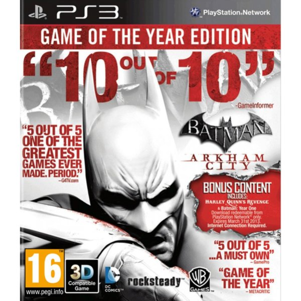 1Игра за PS3 - Batman: Arkham City GOTY