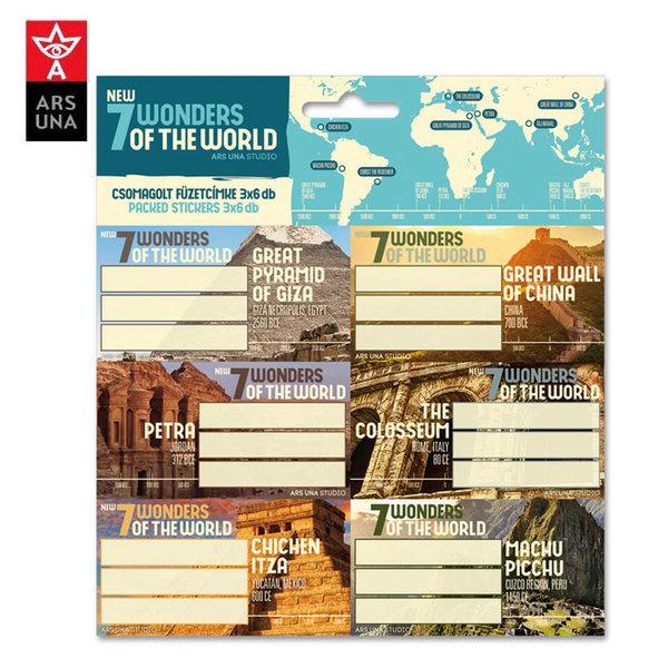 Ars Una - New 7 Wonders of The World Ученически етикети 93838641