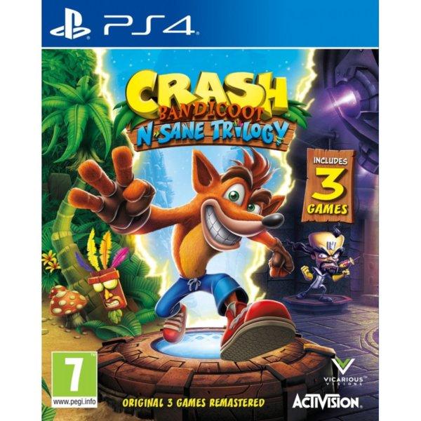 1Игра за PS4 - Crash Bandicoot N. Sane Trilogy