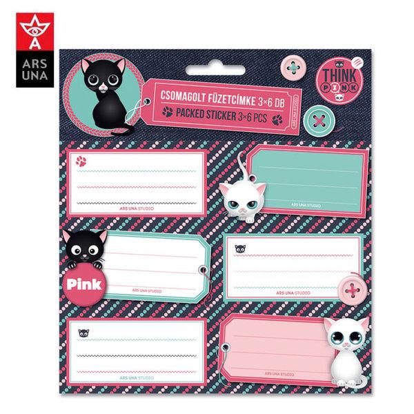 Ars Una - Think Pink Ученически етикети Ars Una 93838405