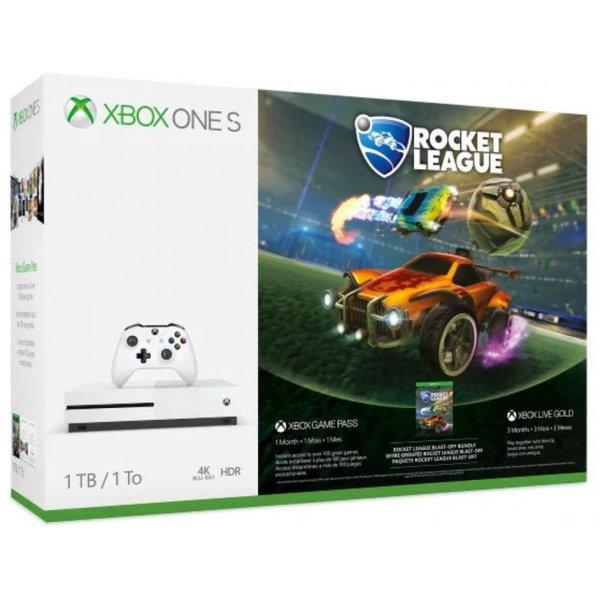 Xbox One S 1TB Rocket League Blast-Off Bundle