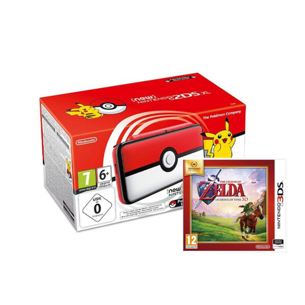 Nintendo 2DS XL Poké Ball Edition + The Legend of Zelda: Ocarina of Time 3D