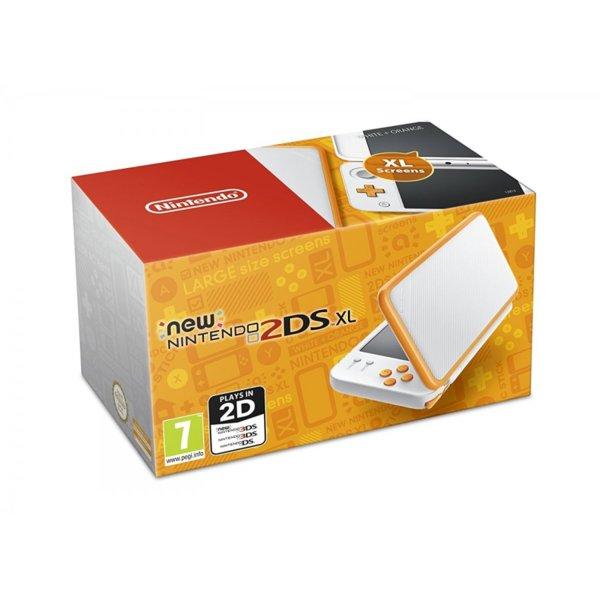 Nintendo 2DS XL White & Orange