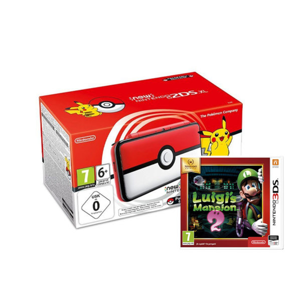 Nintendo 2DS XL Poké Ball Edition + Luigi's Mansion 2