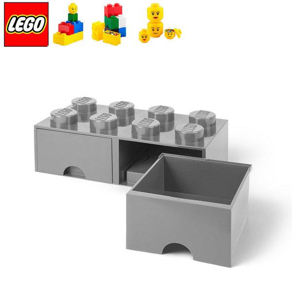 Lego 40061740 Аксесоари - Кутия за играчки чекмедже 2x4 сива
