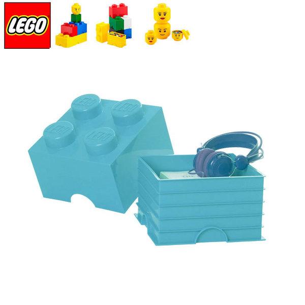 Lego 40031743 Аксесоари - Кутия за играчки 2x2 синя ажур