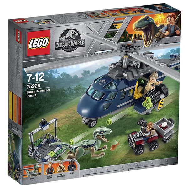 Lego 75928 Jurassic World - Преследването на Блу с хеликоптер