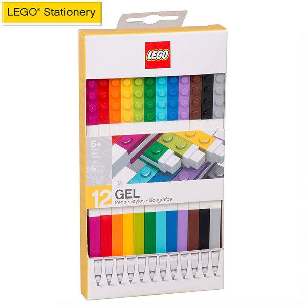 Lego Stationery - Гел химикалки 12 цвята 51639