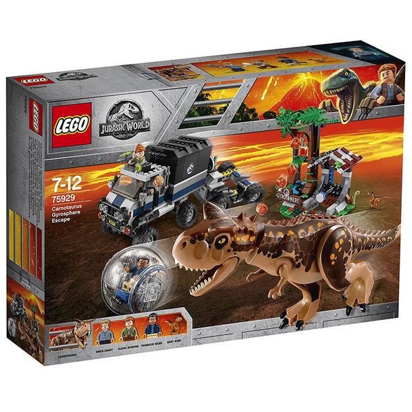 Lego 75929 Jurassic World - Бягството с гиросфера от карнотавъра