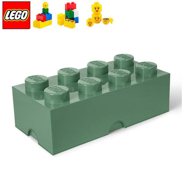 Lego 40041747 Аксесоари - Кутия за играчки 2x4 зелена милитари