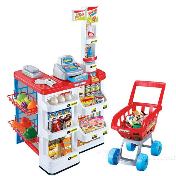 Детски магазин супермаркет с пазарска количка 170825
