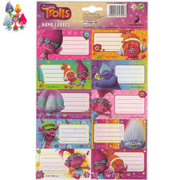 Trolls - Ученически етикети Тролчета 39368