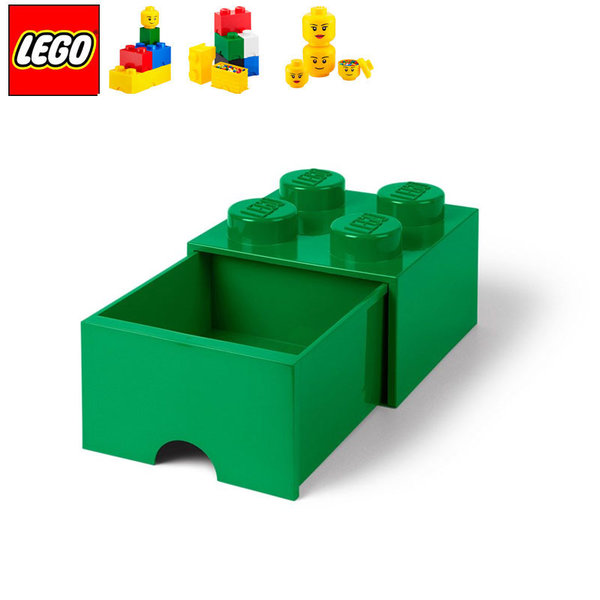 Lego 40051734 Аксесоари - Кутия за играчки чекмедже 2x2 зелена