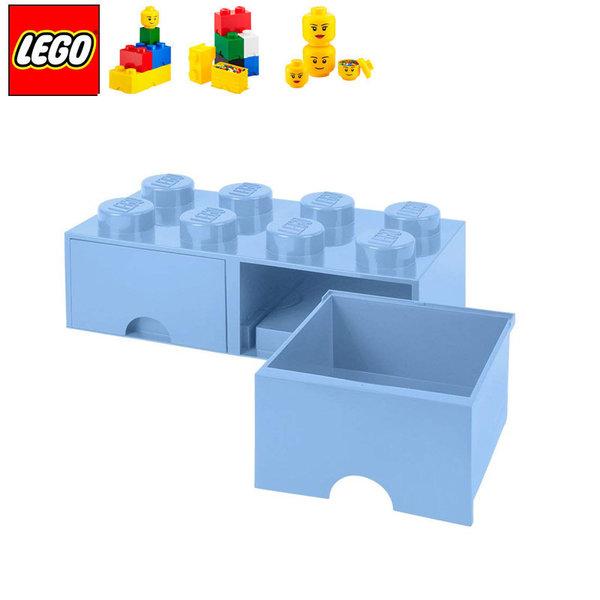 Lego 40061736 Аксесоари - Кутия за играчки чекмедже 2x4 светлосиня