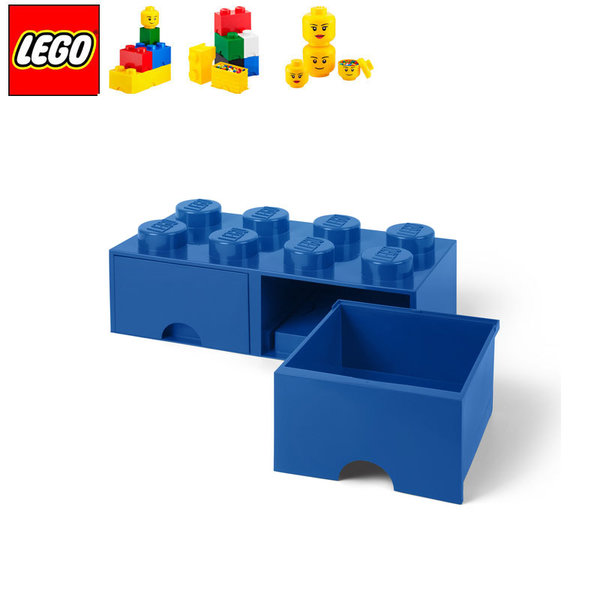 Lego 40061731 Аксесоари - Кутия за играчки чекмедже 2x4 синя
