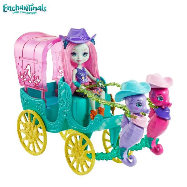 Enchantimals - Комплект за игра Кукла с каляска и морски кончета FKV61