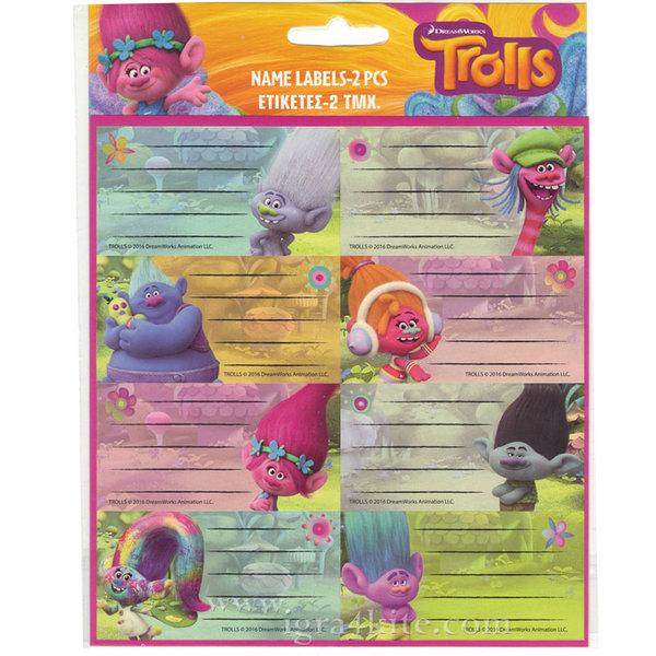 Trolls - Ученически етикети Тролчета 27046