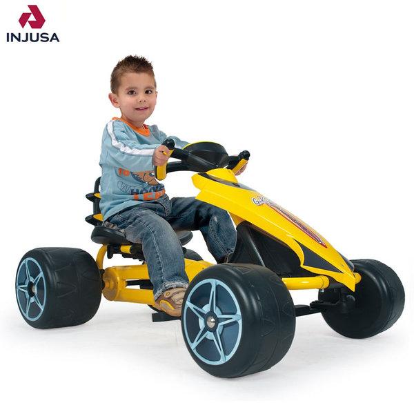 Injusa - Детска картинг кола с педали Go Kart Flecha 412