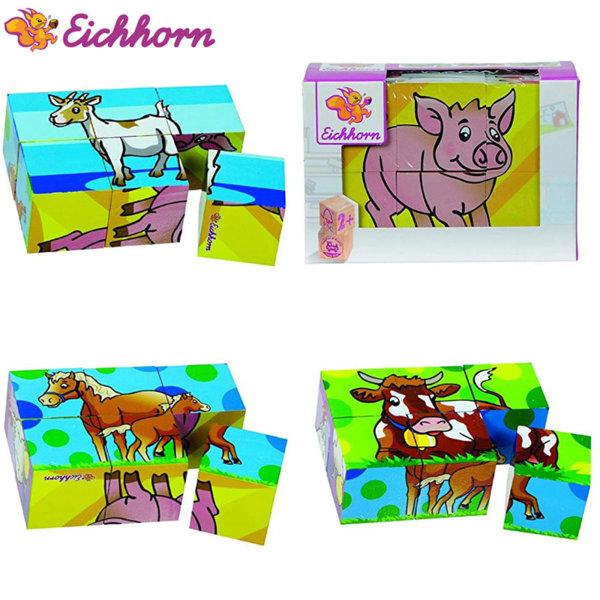 Eichhorn - Дървени кубчета Ферма 100005481
