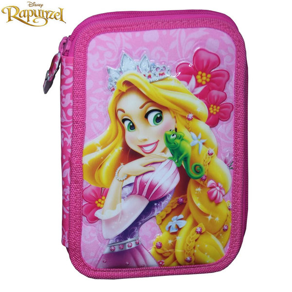 Disney Rapunzel - Ученически несесер 2 ципа зареден Рапунцел 74219