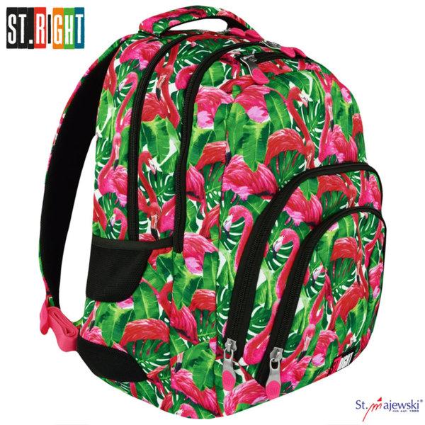 St.Right Flamingo - Ученическа ергономична раница BP25 5903235618611