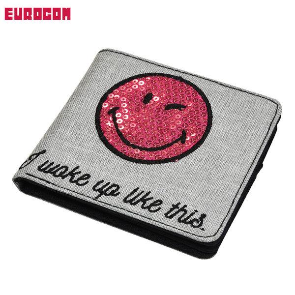 Eurocom - Портмоне Smiley Sleepy с пайети променящи дизайна 53601