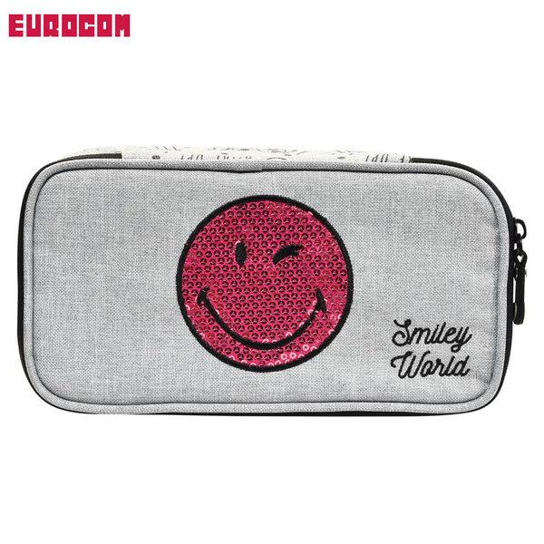 Eurocom - Ученически несесер Smiley Sleepy с пайети променящи дизайна 53602