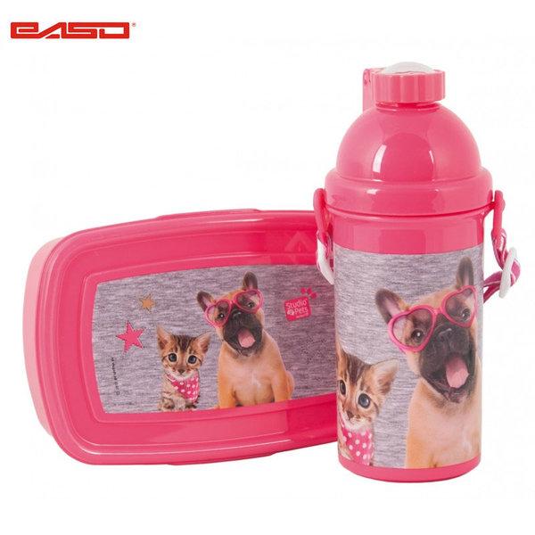 Paso Studio Pets - Комплект бутилка и кутия за закуски Студио петс PEE-3020