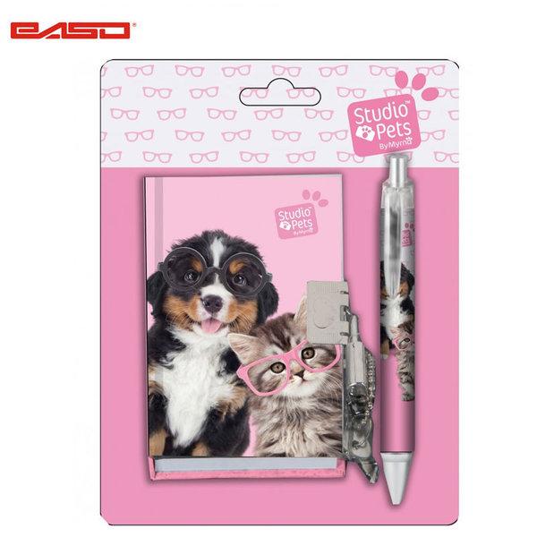 Paso Studio Pets - Комплект таен дневник с химикалка Студио петс PEN-3643