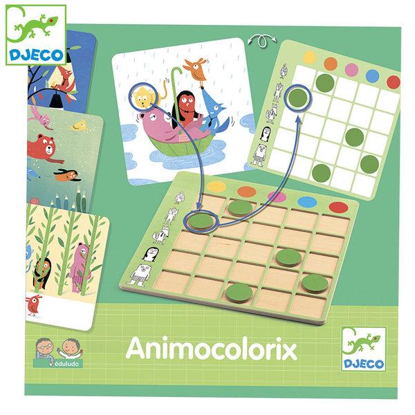 1Djeco - Детска образователна игра Animo Colorix DJ08359