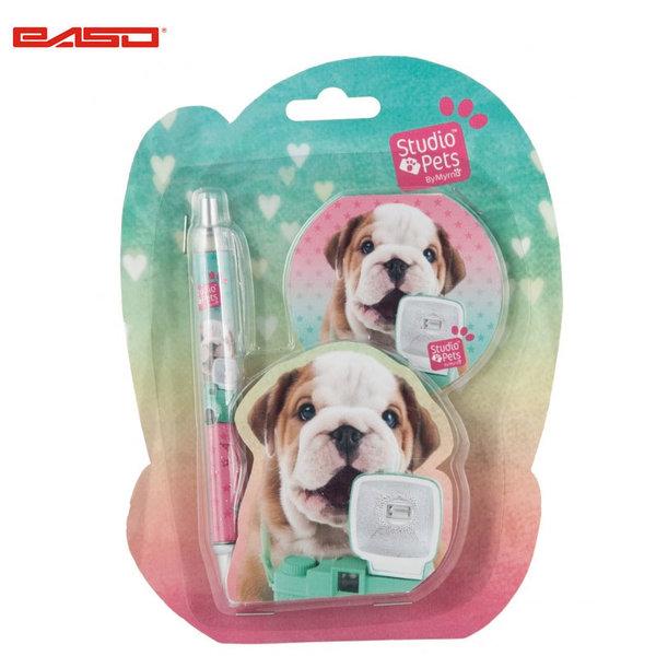 Paso Studio Pets - Комплект тефтер и химикалка Студио петс PEG-3264