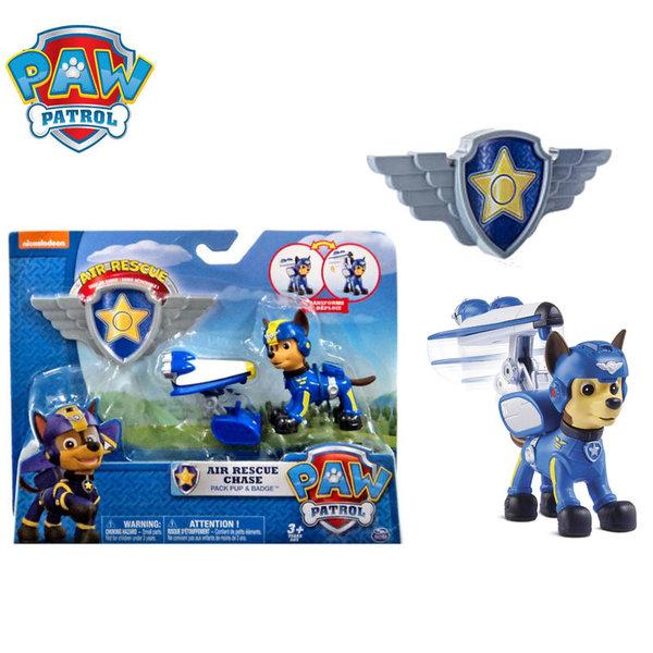 Paw Patrol - Кученцето Чейс със самолет и значка за детето 20071465