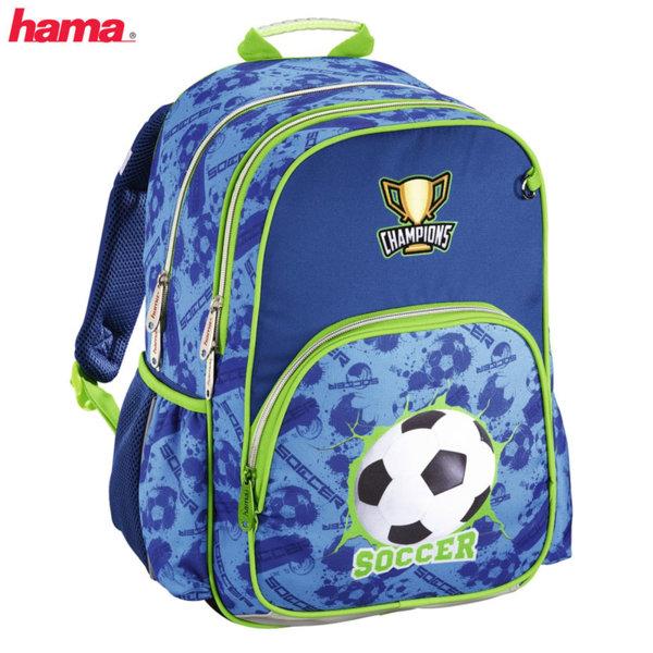 Hama - Ученическа раница с ергономичен гръб Football 139292