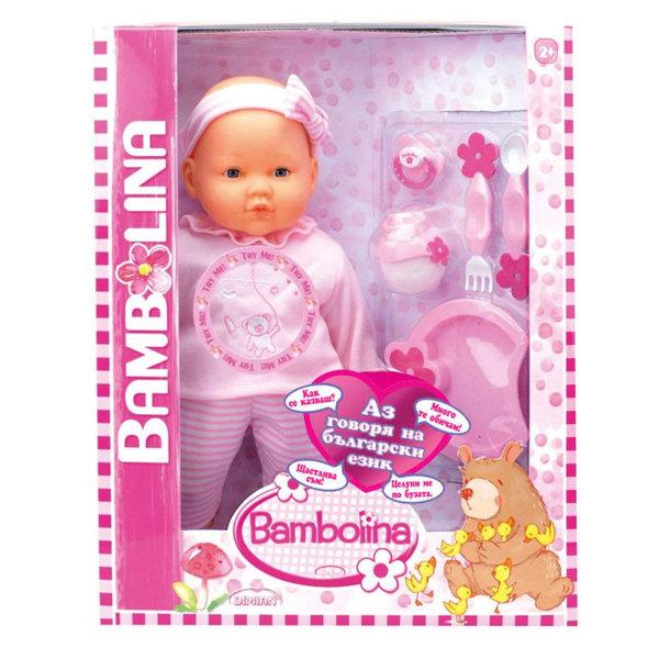Bambolina - Говореща кукла с комплект за хранене BD360BUL
