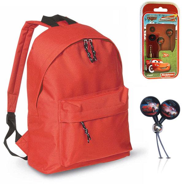 Mood - Ученическа раница с подарък слушалки Disney Cars 1613298
