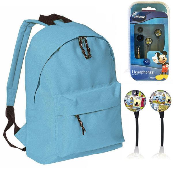 Mood - Ученическа раница с подарък слушалки Disney Mickey Mouse 628298