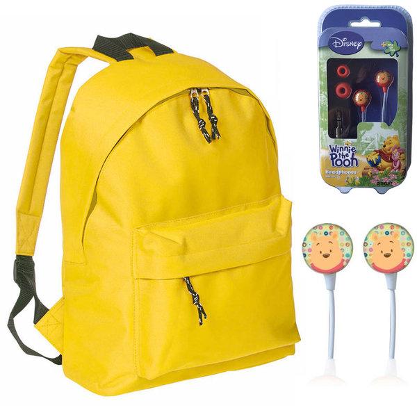 Mood - Ученическа раница с подарък слушалки Disney Winnie the Pooh 628298