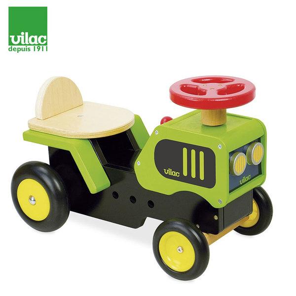 Vilac - Дървен трактор за бутане с крачета 1027