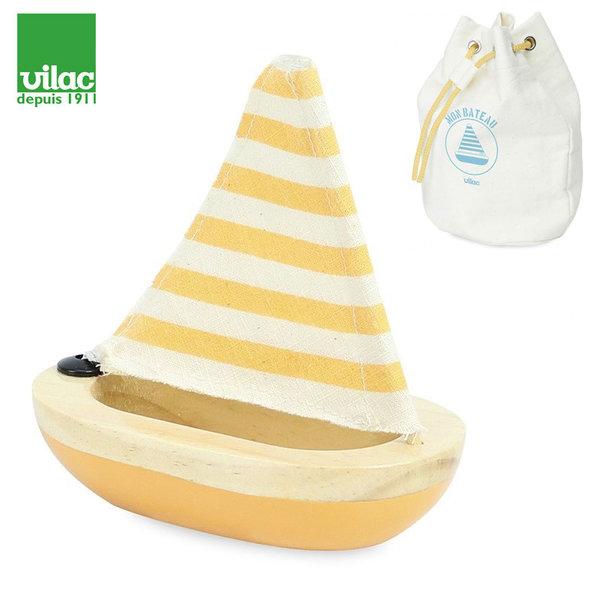 Vilac - Дървена лодка жълта 2901Y