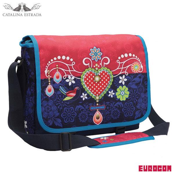 Eurocom Catalina Estrada - Чанта за уроци тип пощальонска Azul 53254