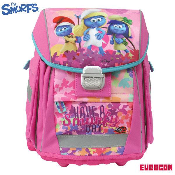 Eurocom Smurf - Ученическа ергономична раница Смърфовете 229334